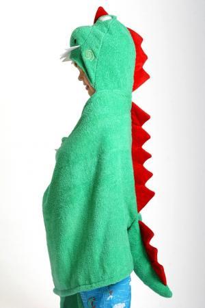 Зеленое полотенце с капюшоном Zoocchini. Цвет: multicolor