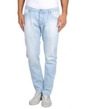Джинсовые брюки ORDEM. Цвет: синий