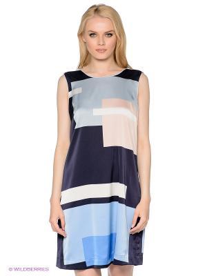 Платье MEXX. Цвет: темно-синий, голубой, бледно-розовый