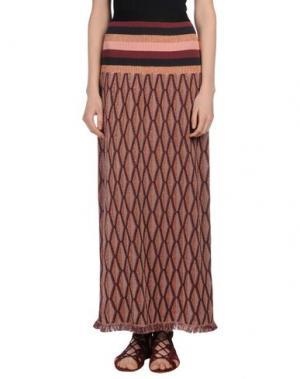 Длинная юбка DEVOTION. Цвет: красно-коричневый