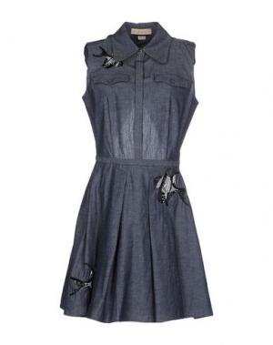 Короткое платье ELLE SASSON. Цвет: синий