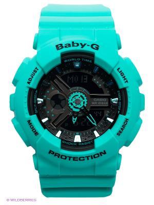 Часы Baby-G BA-111-3A CASIO. Цвет: зеленый