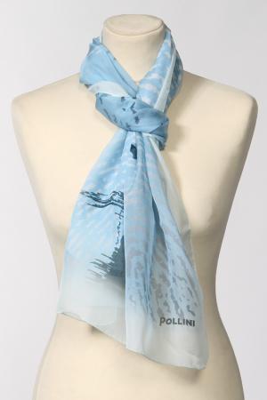 Палантин Pollini. Цвет: голубой