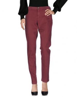 Повседневные брюки 40WEFT. Цвет: красно-коричневый
