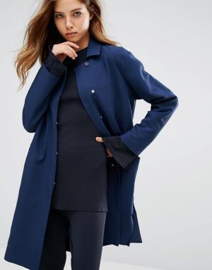 ADPT Удлиненное пальто. Цвет: черный