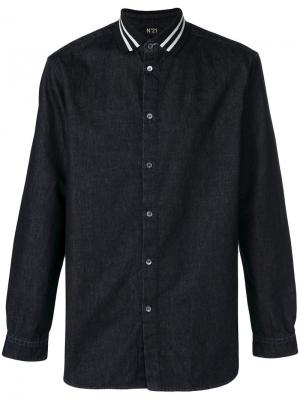 Джинсовая рубашка с длинными рукавами Nº21. Цвет: чёрный