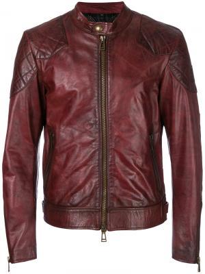 Куртка с эффектом поношенности Belstaff. Цвет: красный