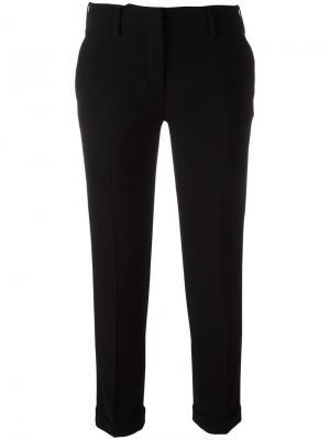 Узкие укороченные брюки Aspesi. Цвет: чёрный