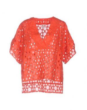 Блузка BELAIR. Цвет: коралловый