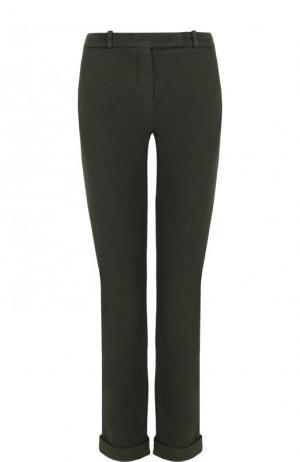 Укороченные однотонные джинсы Loro Piana. Цвет: хаки