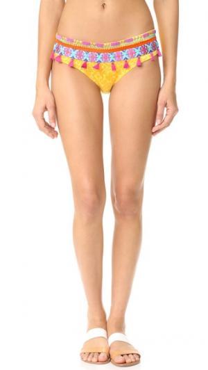Плавки бикини Limoncello с вышивкой OndadeMar. Цвет: лимонно-желтый