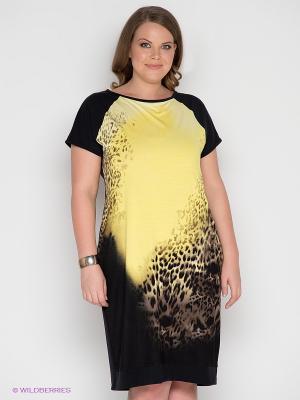Платье SVESTA. Цвет: черный, желтый, коричневый