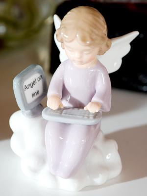 Фигурка Ангелочек Pavone. Цвет: бледно-розовый, белый