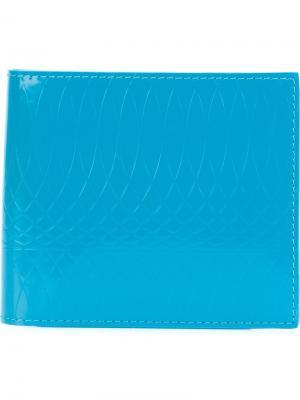 Бумажник с тисненым узором Paul Smith. Цвет: синий