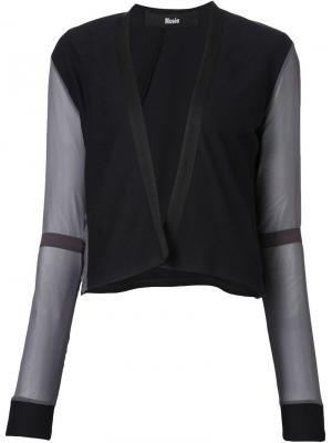 Пиджак с прозрачными рукавами Musée. Цвет: синий