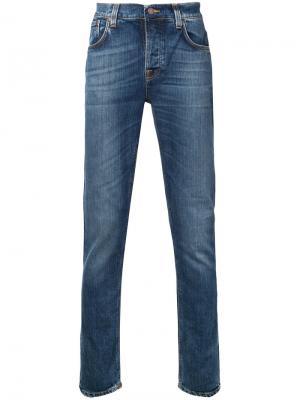 Джинсы кроя слим Grim Tim Nudie Jeans Co. Цвет: синий