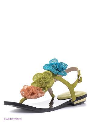 Сандалии Vitacci. Цвет: салатовый, коралловый, синий