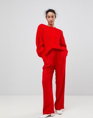 Essentiel Antwerp Широкие брюки Prices. Цвет: красный