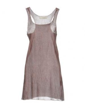 Короткое платье UN-NAMABLE. Цвет: баклажанный