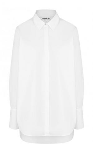 Однотонная хлопковая блуза свободного кроя Elizabeth and James. Цвет: белый