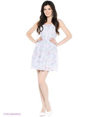 Платье VENUSITA. Цвет: белый, голубой