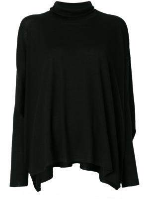 Расклешенный свитер с высокой горловиной Lamberto Losani. Цвет: чёрный