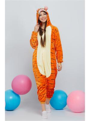 Кигуруми Счастливый Тигра Nothing but Love. Цвет: оранжевый, светло-желтый