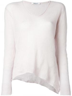 Блузка с V-образным вырезом Lamberto Losani. Цвет: розовый и фиолетовый