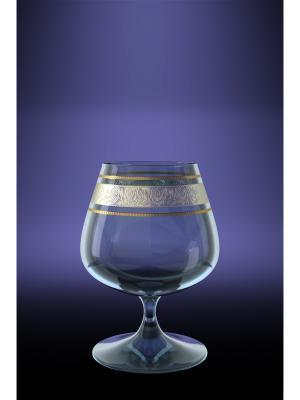 Набор 6 бокалов для бренди эдем с рисунком первоцвет Гусь-Хрустальный. Цвет: прозрачный