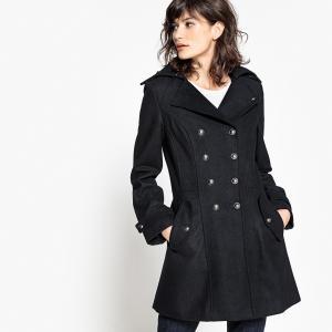 Пальто с двойной застежкой SCHOOL RAG. Цвет: темно-синий