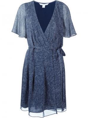 Платье Katina Diane Von Furstenberg. Цвет: синий