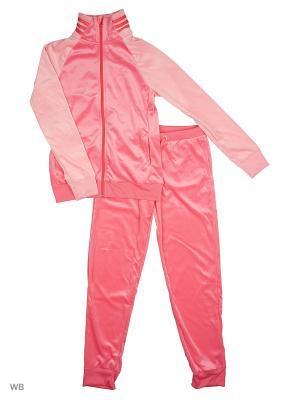 Костюм спортивный дет. YG S VELOUR TS  SUPPNK/SUPPOP/SUPPNK Adidas. Цвет: розовый