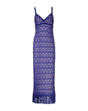 Длинное платье MISSONI. Цвет: фиолетовый