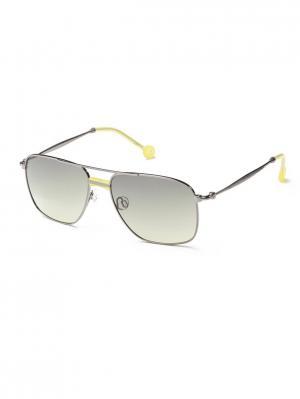 Солнцезащитные очки HS 614S 02 HALLY & SON. Цвет: антрацитовый, желтый