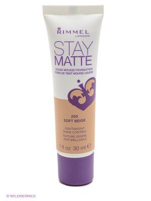 Тональный крем Stay Matte № 200 Rimmel. Цвет: бежевый