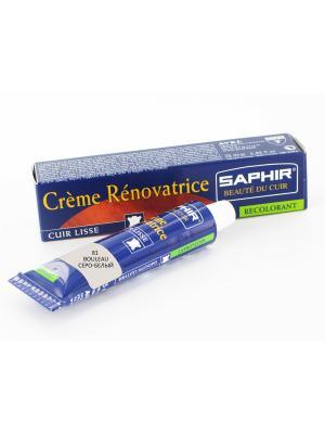 Восстановитель кожи Creme RENOVATRICE, 25 мл. (жидкая кожа)(81 серо-белый) Saphir. Цвет: светло-серый