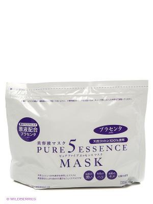 Маска с плацентой Pure5 Essential. 30 шт Japan Gals. Цвет: белый, фиолетовый