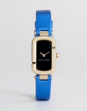 Marc Jacobs Часы с синим кожаным ремешком металлик MJ1501. Цвет: синий