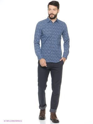Рубашка Sisley. Цвет: синий