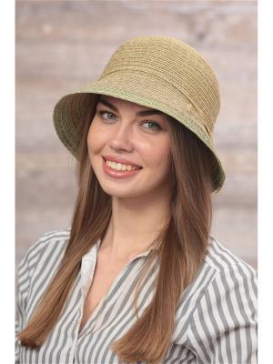 Шляпа FOMAS. Цвет: зеленый, золотистый