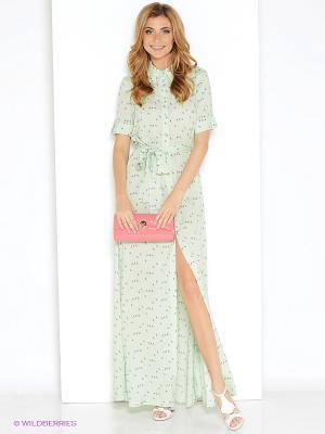 Платье MARBI. Цвет: лазурный
