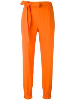 Зауженные брюки с эластичными манжетами MSGM. Цвет: жёлтый и оранжевый
