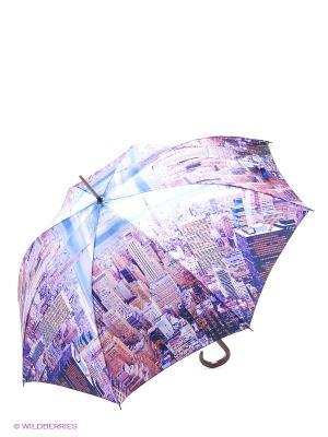 Зонт трость RAINDROPS. Цвет: фиолетовый, белый, голубой
