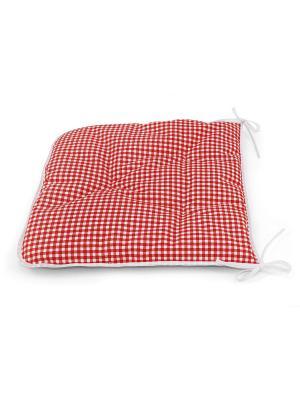Сидушка на стул, Red Kimberly, 40x40см Kauffort. Цвет: красный, белый