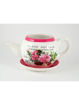 Цветник садовый Чайник Ирисы Русские подарки. Цвет: лиловый, белый