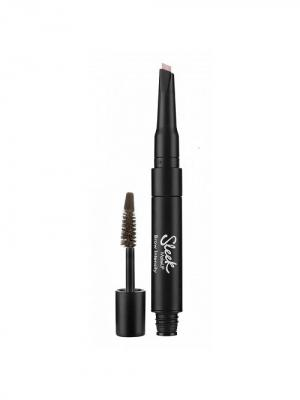 Гель для бровей и хайлайтер Brow Intencity 216 Medium Sleek MakeUp. Цвет: коричневый