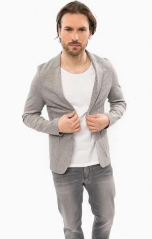 Трикотажный пиджак из вискозы Cinque. Цвет: серый