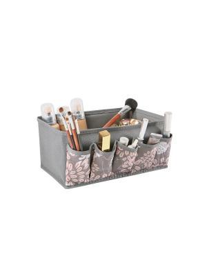 Органайзер для мелочей 25х15х12см Серебро 930 COFRET. Цвет: серый, розовый, белый