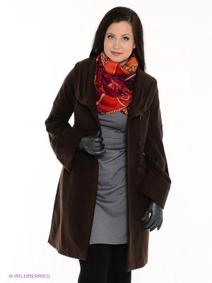 Пальто Gemko plus size. Цвет: коричневый
