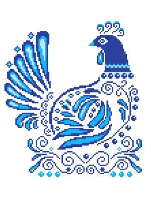 Набор 22х32 (рис/канв., мулине) NITEX. Цвет: голубой, белый, синий